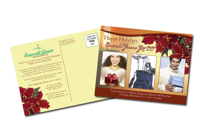 Full color postcards, Business postcards, Full color Business ...