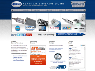 Website Design - Adams Air and Hydraulics