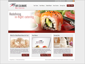 Website Design - Air Culinaire
