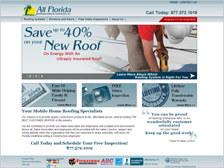 Website Design - All Florida Weatherproofing