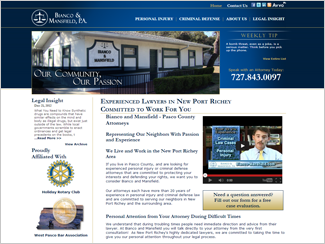 Website Design - Law Offices of Bianco and Mansfield