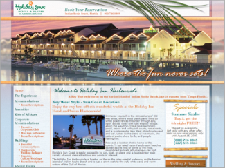 Website Design - Holiday Inn Harbourside
